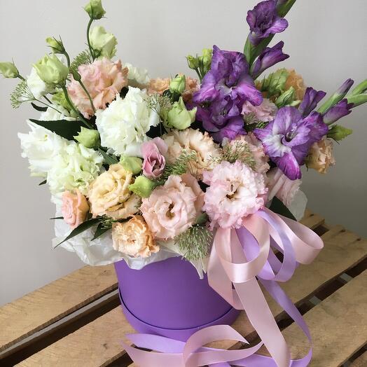 Цветы в коробке ты мое счастье