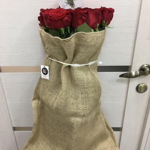 Валькирия - Ароматные Розы в Джутовом Мешке