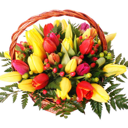 Корзина Весеннее лукошко: букеты цветов на заказ Flowwow