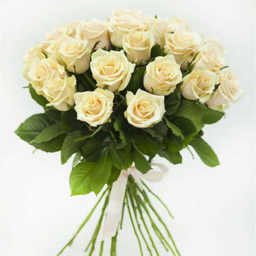 Кремовый букет: букеты цветов на заказ Flowwow