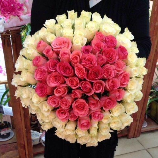 101 роза Сердце: букеты цветов на заказ Flowwow