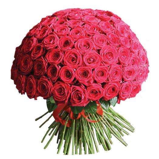 Чудесный букет роз Ред Наоми 101 шт: букеты цветов на заказ Flowwow