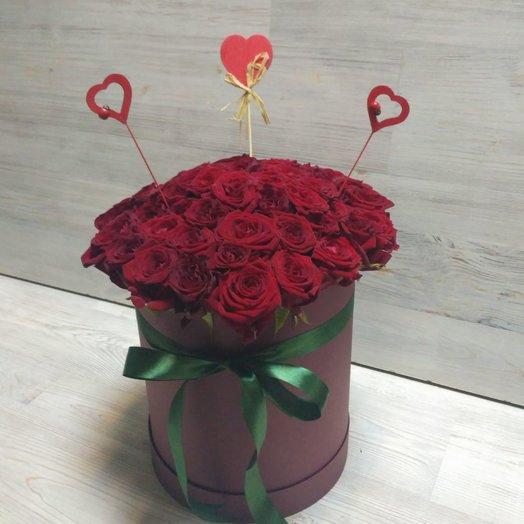 Бордовая страсть: букеты цветов на заказ Flowwow