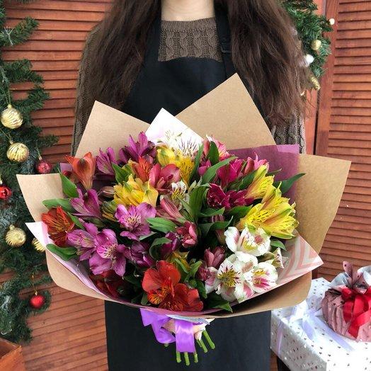 Букет из альстромерий: букеты цветов на заказ Flowwow