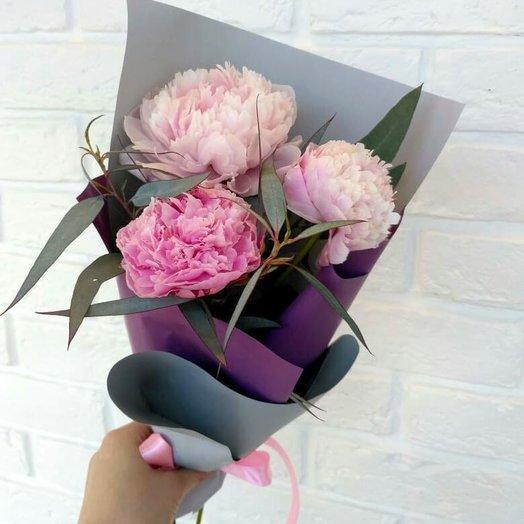 Мини-букет из пионов: букеты цветов на заказ Flowwow