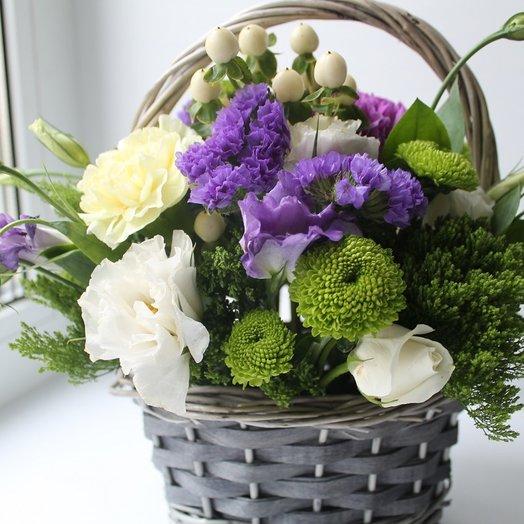 """Корзина с цветами """"Лето"""""""