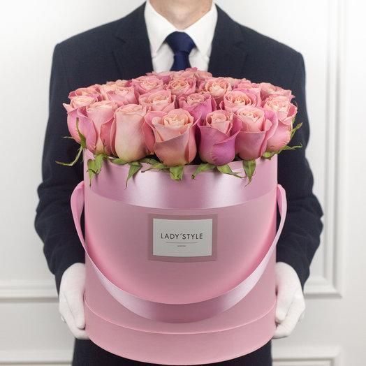 Эквадорские розы в шляпной коробке XL: букеты цветов на заказ Flowwow