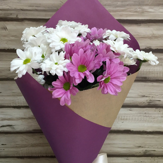 Букет из хризантем: букеты цветов на заказ Flowwow