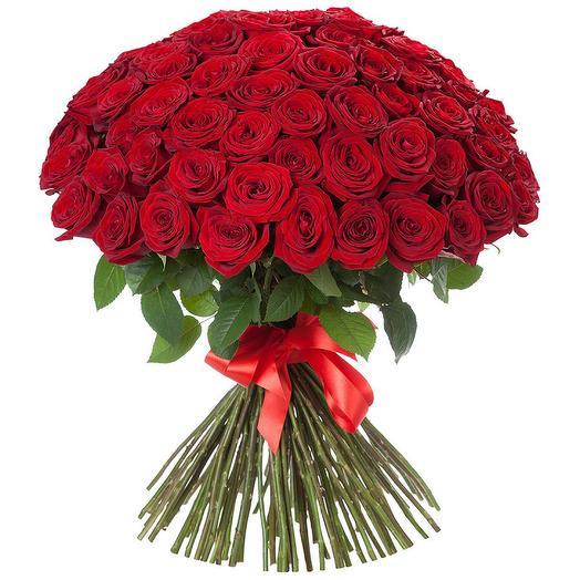 51 красная роза 40 см: букеты цветов на заказ Flowwow