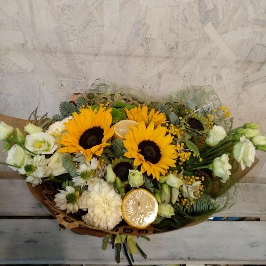 Зимние подсолнухи: букеты цветов на заказ Flowwow