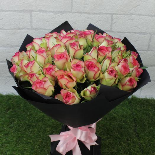 "51 роза ""Дабл Мини"": букеты цветов на заказ Flowwow"