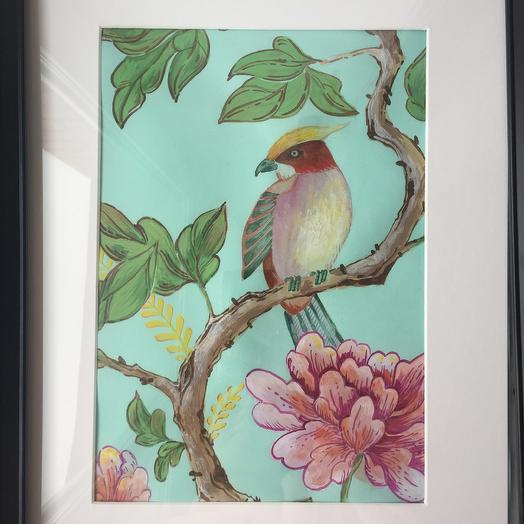Птица с пионом: букеты цветов на заказ Flowwow