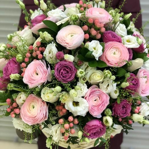 Корзина искреннего восторга: букеты цветов на заказ Flowwow