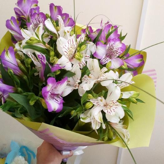 Букет из Альстермерии: букеты цветов на заказ Flowwow