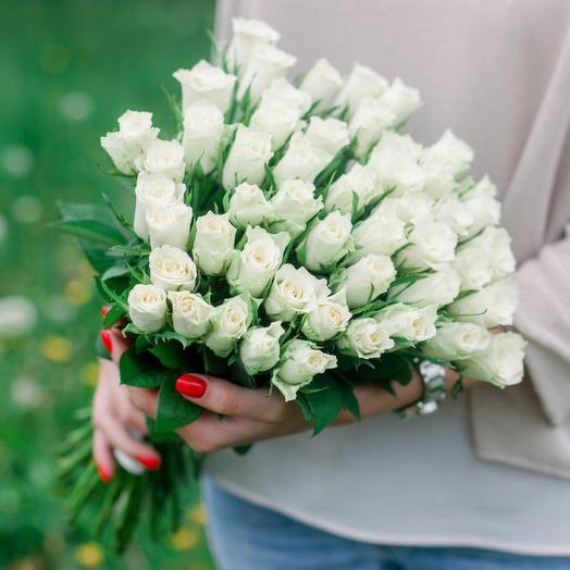 "Букет ""51 Белой розы"": букеты цветов на заказ Flowwow"