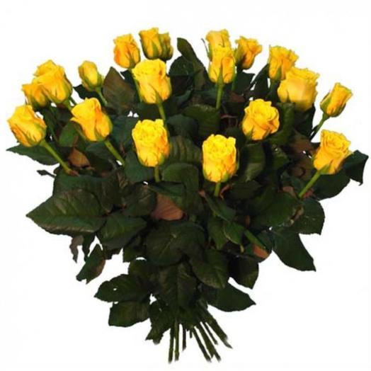 Букет из 15 желтых роз: букеты цветов на заказ Flowwow