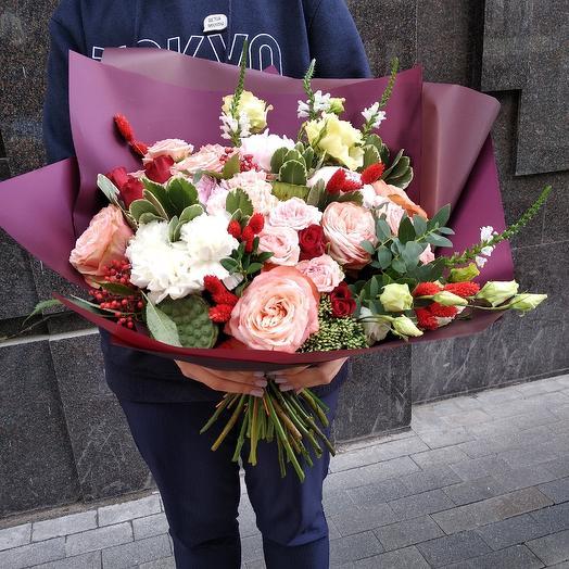 Букет с пионовидной розой по супер цене: букеты цветов на заказ Flowwow