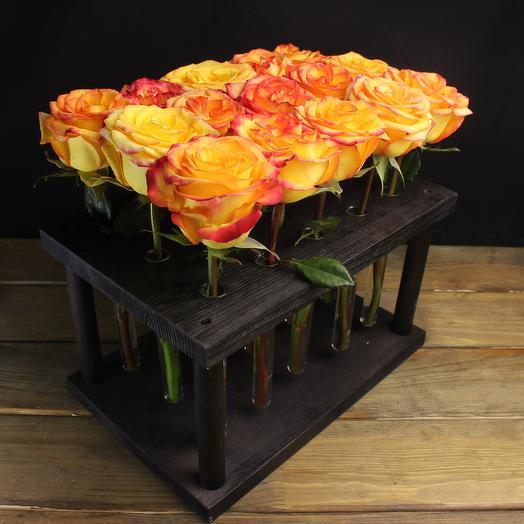 """Композиция """"Восхищение"""" из 15 роз: букеты цветов на заказ Flowwow"""