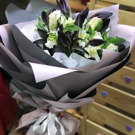 Чёрная Лилия: букеты цветов на заказ Flowwow