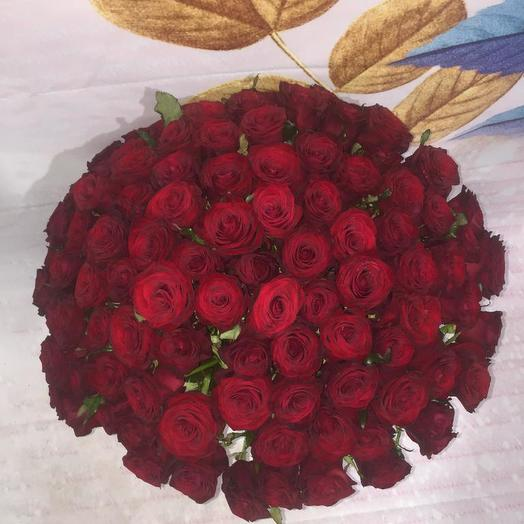 101 Бордовая Роза: букеты цветов на заказ Flowwow