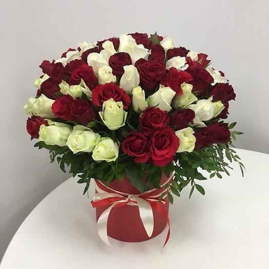 Коробка Юбиляру: букеты цветов на заказ Flowwow