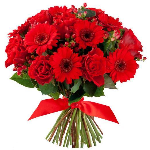 "Букет из гербер ""Маков цвет"": букеты цветов на заказ Flowwow"