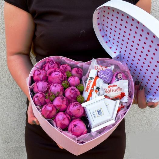 Сладкое сердце 6: букеты цветов на заказ Flowwow