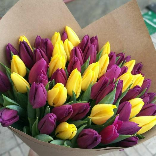 Букет из 37 тюльпанов микс: букеты цветов на заказ Flowwow