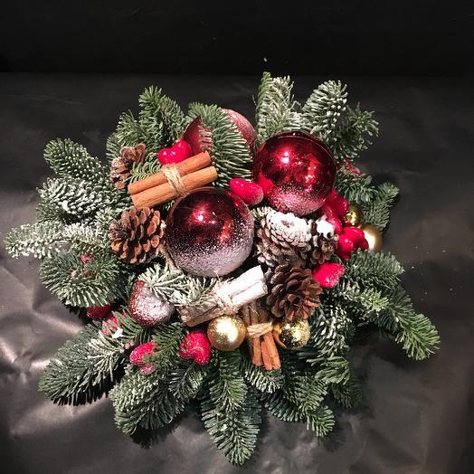 Рождественская композиция: букеты цветов на заказ Flowwow