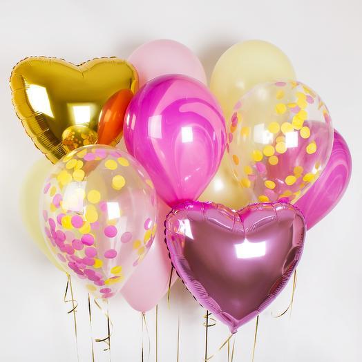 Набор шаров «Розовый пунш»