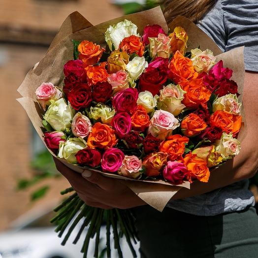 Яркий микс 51 роза