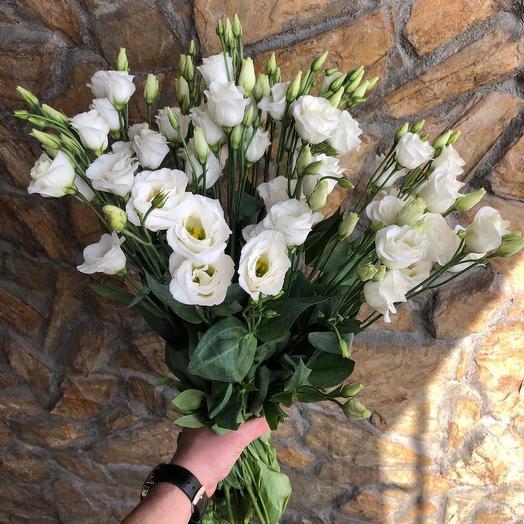 Прекрасная эустома: букеты цветов на заказ Flowwow