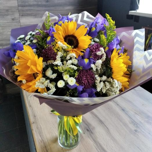 Подсолнух сити: букеты цветов на заказ Flowwow
