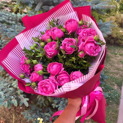 "Bouquet of Bush peony roses "" misty bubbles»"