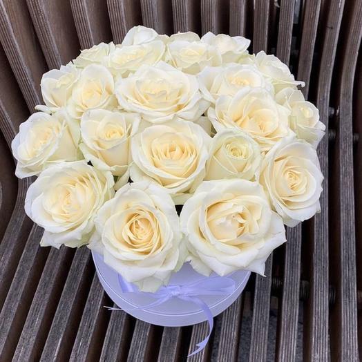Цветы в коробке « Нежность любви»