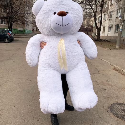 Плюшевий ведмедик 200 см білий