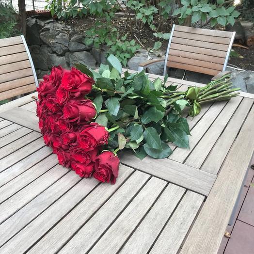 25 красных эквадорских роз