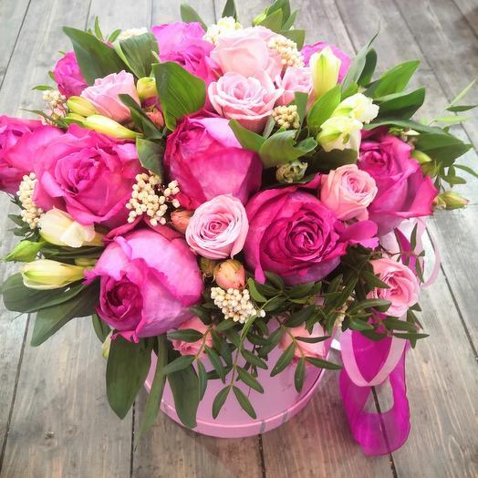 Цветы в коробке Ласвегас