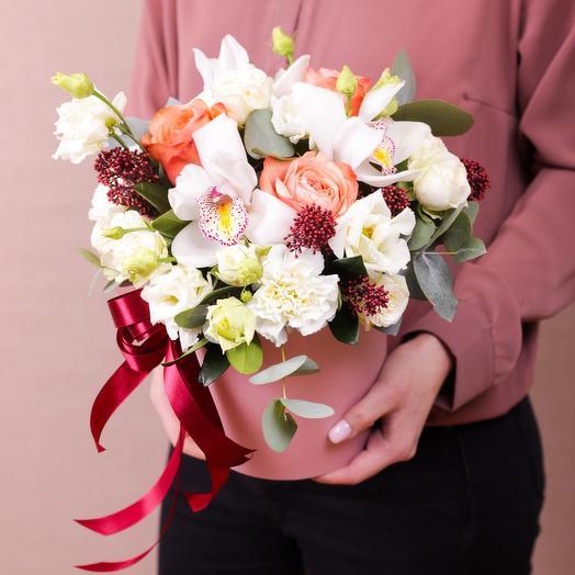 Цветы в коробке Holy Flo