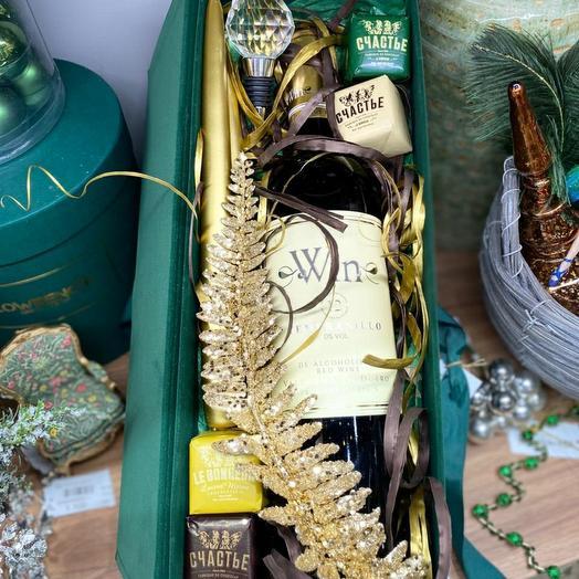 Подарочная коробка с вином