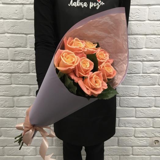 Букет 7 роз Мисс Пиги 60см