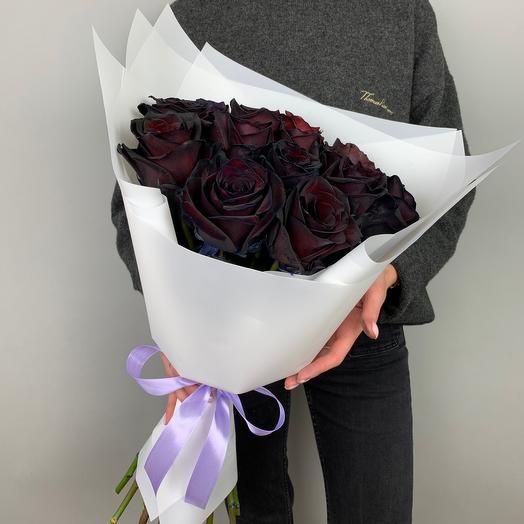 Букет «Чёрные розы»