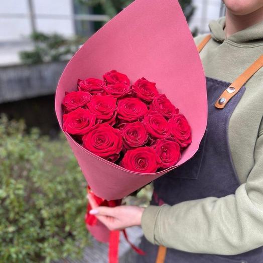 Букет из красный роз