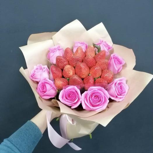 Букет Клубники и Роз