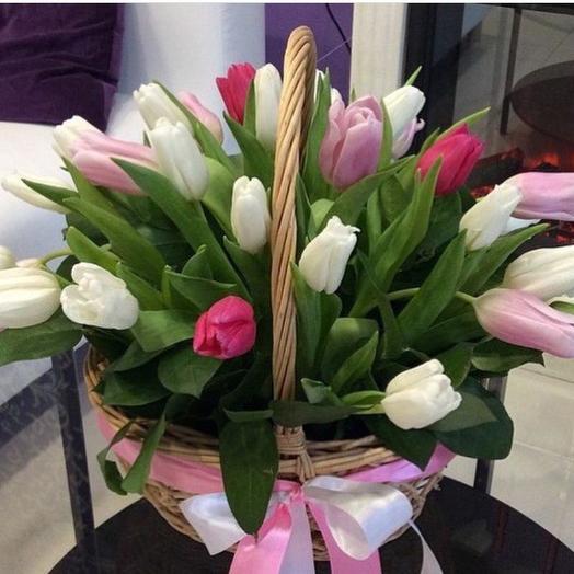 из 25 тюльпанов