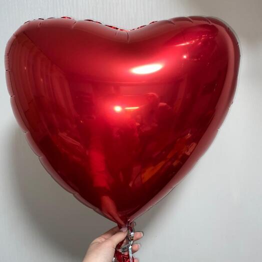 Шар фольгированный «сердце» красный цвет