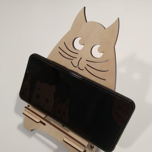 "Подставка под телефон  ""Кошка "" 122x200мм подставка под планшет, подставка под книгу"