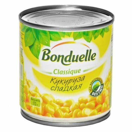 Кукуруза сладкая  Бондюэль 400 гр