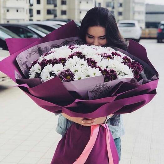 Букет гигант из хризантемы