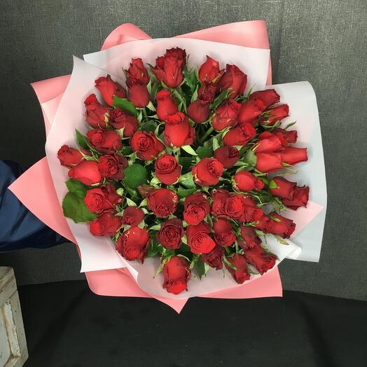 Роза кенийская 40 см (51 шт)